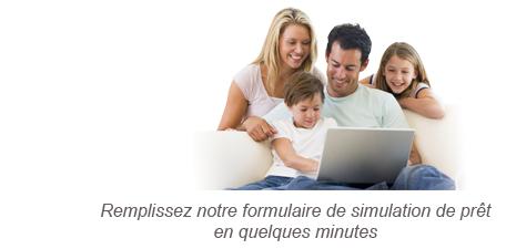 Pretimmobilier-enligne.fr étapes 1: Remplissez notre formulaire de simulation de prêt en quelques minutes